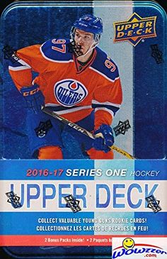 Upper Deck Series 1 NHL Hockey Factory Sealed Collectors TIN with 12 Packs    Special Winter Classic Jumbo Card! Look for Austin Mathews RC! 9d244ad62
