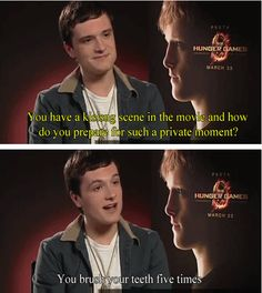 """Josh answers the question """"How do you prepare for a kissing scene?"""""""