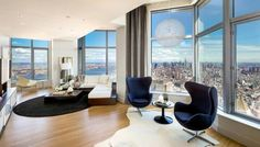 New York tower by Frank Gehry, Lower Manhattan. Penthouses rented for $35,000 per month.