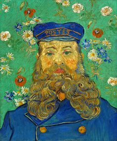 Vincent van Gogh, Portrait of Joseph Roulin - all of the aspects of this painting are feminine