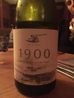 Beauty of a chenin blanc from Spioenkop. At La Mouette.