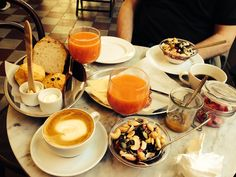 Breakfast at Pom and Flora Sodermalm Stockholm. Anyplace named after Babar's twins is somewhere Robin wants to go.
