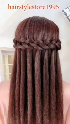 Geflochtene Frisuren 30 Braids Hairstyle Idea & Quiffed Ponytail Hairstyle Try celebrity hairstyles Easy Hairstyles For Long Hair, Down Hairstyles, Wedding Hairstyles, Wedding Updo, Updo Hairstyle, Hairstyles Videos, Diy Wedding, Waterfall Hairstyle, Wedding Makeup