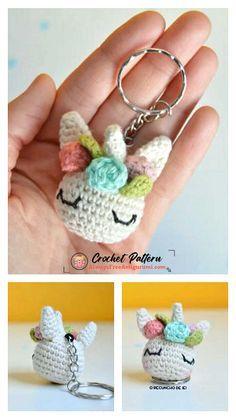 Crochet Keyring Free Pattern, Crochet Lanyard, Crochet Bear Patterns, Crochet Designs, Cute Crochet, Crochet Hooks, Diy Crochet Projects, Yarn Crafts, Teddy Bear