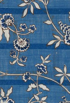 Printed muslin textile design, produced by Hargreaves in 1849.