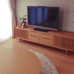 ichigoさんの、リビング,観葉植物,テレビ台,リビングテーブル,大谷石,飛騨家具,飛騨産業,日進木工,のお部屋写真
