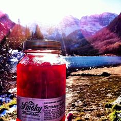 Having a #MoonshineMoment in the Rockies! #Mountains #Vacation #Moonshine