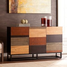 Harper Blvd Hollis Multi-Tonal Credenza/ Console Table | Overstock.com Shopping - The Best Deals on Coffee, Sofa & End Tables