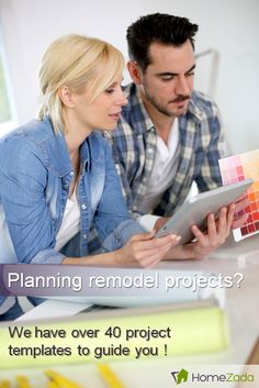 We have a library of over 40 common home remodel templates that guides you through a typical list of items that you need to buy for each project.  HomeZada project templates also provide some key pointers and videos about important things to consider with each project.  Take a look at our extensive library now.