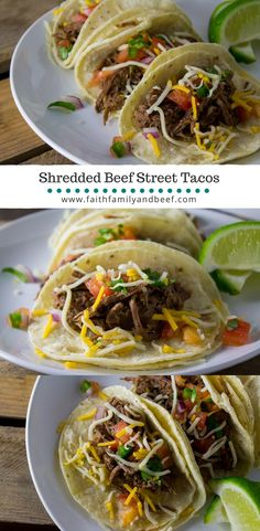 Shredded Beef Street Tacos - a not authentic, but still delicious taco that you can make in your slow cooker or pressure cooker.