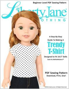 FREE Doll Clothes pattern Designed to fit WellieWishers Dolls! Find it at Pixie Faire!