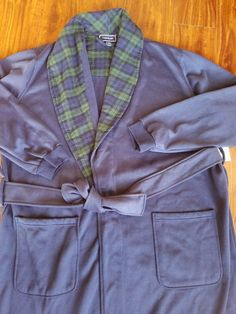 89f3dc994d Club Room Men s Robe Blue Soft Lounge Sleepwear One Size NWT  BLUE  CLUB