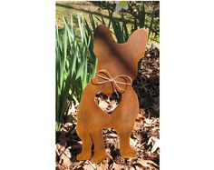 French Bulldog Dog Metal Garden Stake - Metal Yard Art - Metal Garden Art - Pet Memorial on Etsy, $39.99