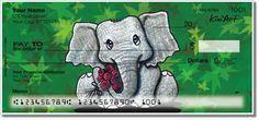 Elephant checks by Kim Niles