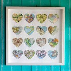 картина с сердечками из карт