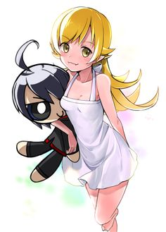 Manga Art, Manga Anime, Anime Art, Loli Kawaii, Kawaii Anime, Otaku, Blonde Hair Characters, Kiss Shot, Monogatari Series