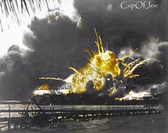 Colorized by CupOfJoe, this is the B&W photo, there is a coloured version at a different angle, thought I colour this one of her mag exploding.