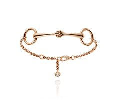 Bracelet in pink gold set with diamonds, very small model. Wrist size: 15-16 cm