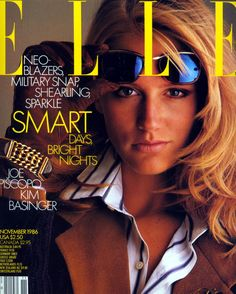 Elle US November 1986 - Ashley Richardson Elle Magazine, Seventeen Magazine, Magazine Covers, Kim Basinger, Fashion Mag, 80s Fashion, Ashley Richardson, Elle Us, Journals
