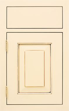 Lewisburg Raised door style by #WoodMode, shown in Classic Opaque Antique White finish with Espresso glaze on MDF.