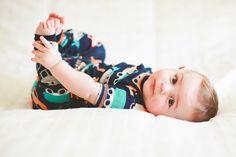 baby boy. 5 months in pjs
