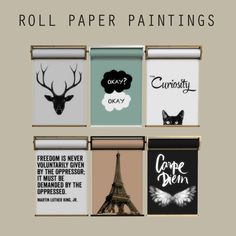 The Sims 4 CC || Leo Sims || Roll Paper Paintings || Decor