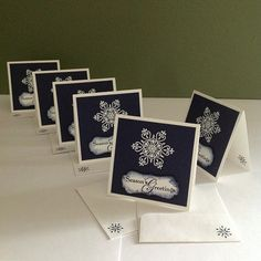 #Christmascards #stampinup #3x3cards