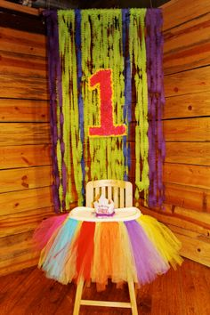 HighChair Tutu by JourneytoDelight on Etsy, $50.00