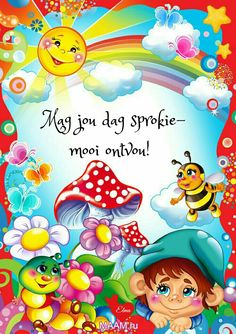 Good Morning Greetings, Good Morning Wishes, Lekker Dag, Goeie More, Afrikaans Quotes, Whimsical Art, Morning Images, Cute Quotes, Smurfs