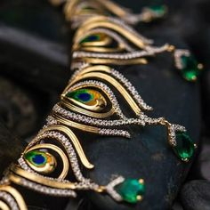Elegant Designer jewelry from India - Want to know about the best quality indian nose jewelry, indian artificial jewelry online, plus pueblo direct indian jewelry,. CLICK Visit link above for more options Jewelry Design Earrings, Necklace Designs, Beaded Jewelry, Nose Jewelry, Silver Jewelry, Diamond Jewelry, Jewelry Bracelets, Bangles, Fancy Jewellery