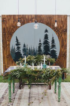 sweetheart table with wedding greenery Whimsical Wedding, Woodland Wedding, Rustic Wedding, Wedding Blog, Our Wedding, Wedding Ideas, Wedding Designs, Wedding Styles, Wedding Decorations