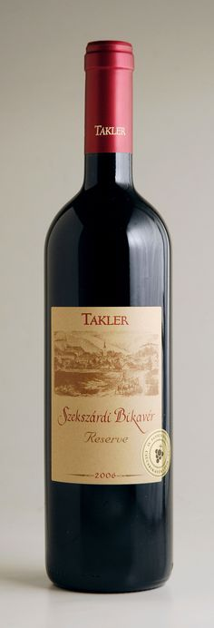 "Takler     Voted Best Red Wine at 'Pannon Wine Challenge, 2011' (Judging Panel: Caroline Gilby MW, Isabelle Legeron MW and Matt Kramer) this modern, ultra-high quality take on what used to be known as ""Bull's Blood"" has proven incredibly popular at our tastings, often being mistaken for a fine Bordeaux.    A classic Hungarian blend of indigenous Kékfrankos with Cabernet Sauvignon and Merlot. Deep ruby in colour, creamy-textured, rich, round and full-bodied."