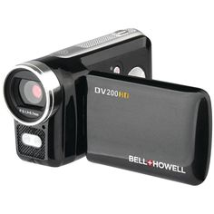 Bellhowell Megapixel Digital Video Camcorder features LCD screen for user convenience. Camcorder with digital zoom facility includes camcorder case, AAA batteries, image editing software, USB cable and instruction manual. Cameras Nikon, Video Lighting, Electronic Gifts, Electronics Gadgets, Video Camera, Camcorder, To Youtube, Hd Video, Digital Camera