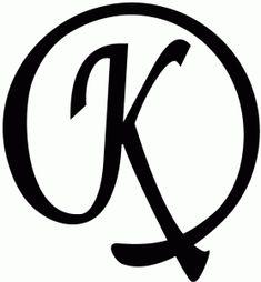 Silhouette Design Store: Round Flourish Monogram - K Silhouette Design, Silhouette Cameo Projects, Letter Logo, Monogram Letters, Letter Decals, Fancy Letters, Monogram Initials, Abc Letra, Silhouette Online Store