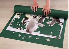 Puzzle Roll £15 Enables you to transport your jigsaw safely. Fold away for easy storage whilst completing your favourite puzzle. Flat size: 100 x 80cm. Folded size: 80 x 58.5cm. Fits Puzzle size: 68 x 48cm. Free 1000pc Puzzle. COLLECTION/DELIVERY FROM ABERDEEN OR DIRECT DISPATCH VIA PAYPAL/CARD PAYMENT (£3.95 delivery) PM/COMMENT FOR DETAILS.