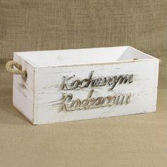 """Drewniana skrzynka z napisem """"Kochanym rodzicom"""""""