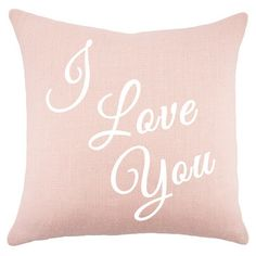 I Love You Pillow in Pink
