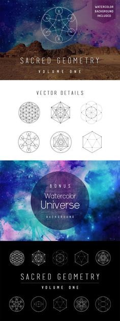 Sacred Geometry Vector Set Vol. 1