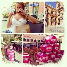 Love it! #vacation #sun #sunglasses #pink #food #drink #shopping #malaga #elpimpi