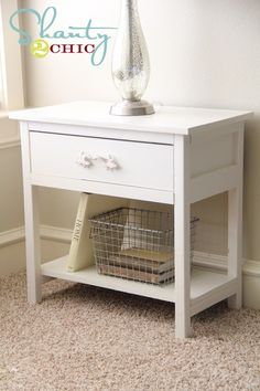 Side table DIY - maybe rustic wood finish instead?