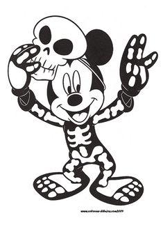 Imgenes de Mickey y Minnie para colorear  Para Colorear