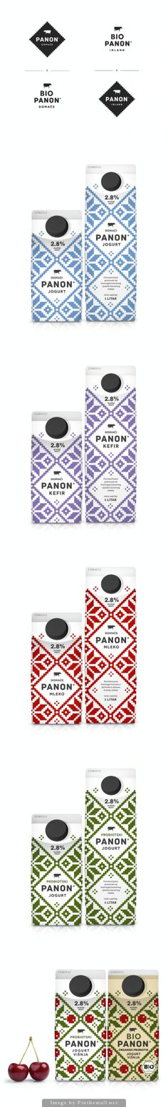 PANON, milk box design, dairy. Agency: Peter Gregson Studio, Country: Serbia