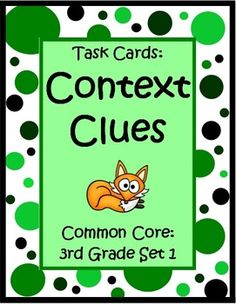 These 32 Common Core Task Cards by The Teacher Next Door will help your students practice the important reading strategy of using context clues to figure out word meanings. Each task card has a short story including a 3rd grade vocabulary word and asks students to identify the meaning of the word from the choices given.  One of the great things about these cards is that they give your students concentrated practice with context clues in a short amount of time. $