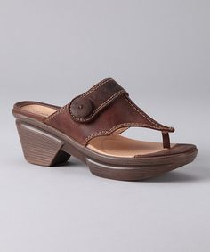 Take a look at this Brown Nikka Sandal - Women by Sanita on #zulily today!