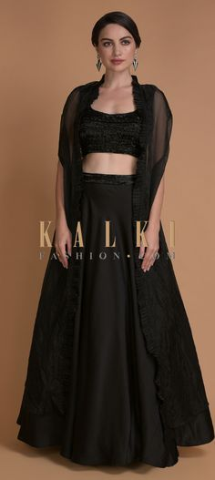 Buy Traditional Indian Clothing & Wedding Dresses for Women - Kalkifashion, Click web site other content Jacket Lehenga, Sleeveless Crop Top, Jackets Online, Indian Outfits, Formal Dresses, Wedding Dresses, Fashion Boutique, Frocks, Fashion Black