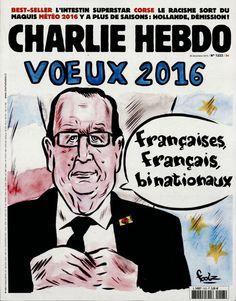 Charlie Hebdo - # 1223 - 30 Décembre 2015 - Couverture : Foolz