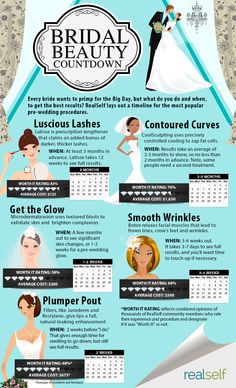 Wedding Beauty Countdown Centerprice - bridal beauty countdown: when to start treatments for the Bridal Beauty, Wedding Beauty, Wedding Tips, Wedding Planning, Wedding Hacks, Wedding Stuff, Wedding Timeline, Bridal Makeup, Wedding Makeup
