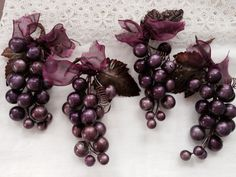 Purple Grape Clusters by beautifulliving on Etsy, $9.95