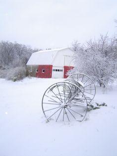 Missouri Barn in Winter