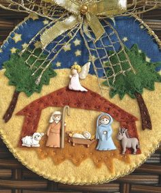 trendy ideas for embroidery art ideas felt Felt Christmas Ornaments, Christmas Nativity, Christmas Holidays, Christmas Crafts, Christmas Decorations, Holiday Decor, Embroidery Flowers Pattern, Embroidery Art, Nativity Crafts